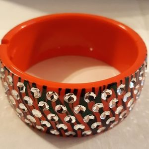 Jewelry - Red & Black Plastic Bangle